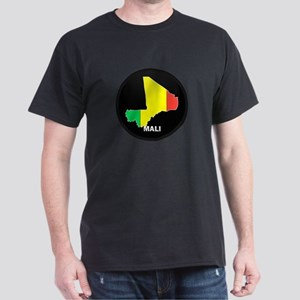 Flag Map of mali Dark T-Shirt
