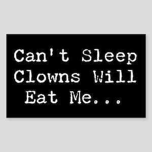 Black Can't Sleep..Rectangle Sticker