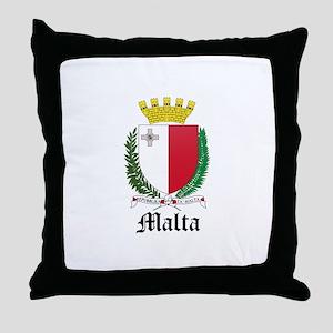 Maltese Coat of Arms Seal Throw Pillow