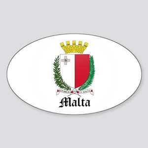 Maltese Coat of Arms Seal Oval Sticker