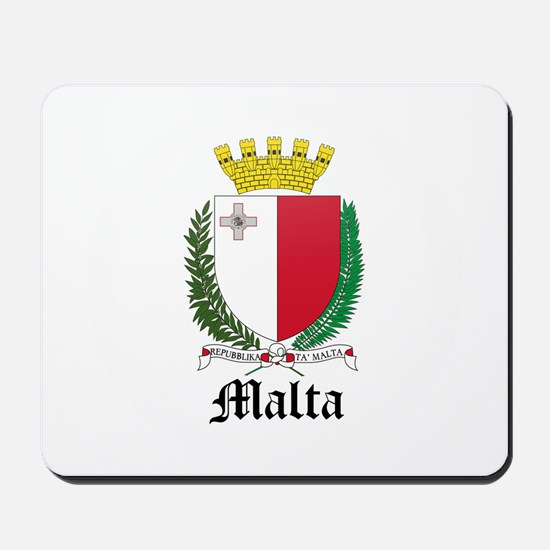 Maltese Coat of Arms Seal Mousepad
