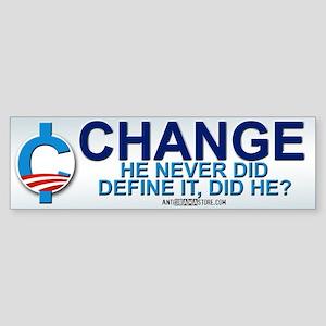 """Define """"Change"""" Bumper Sticker"""