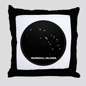 Flag Map of MARSHALL ISLANDS Throw Pillow