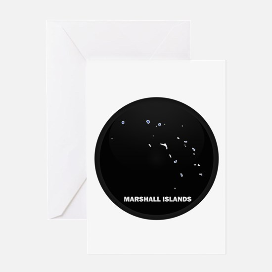 Flag Map of MARSHALL ISLANDS Greeting Card