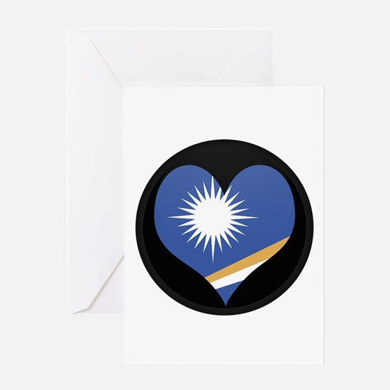 I love MARSHALL ISLANDS Flag Greeting Card