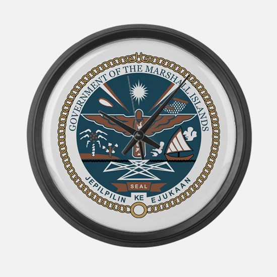 MARSHALL ISLANDS Coat of Arms Large Wall Clock