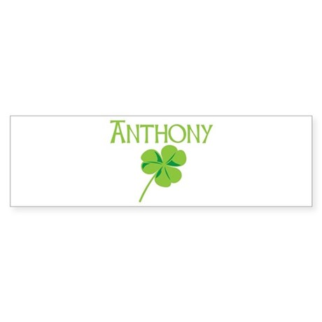Anthony shamrock Bumper Sticker