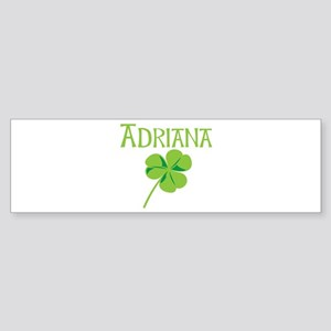 Adriana shamrock Bumper Sticker