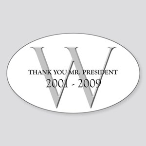 Thank You Mr. President Oval Sticker