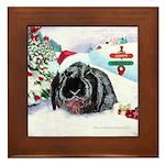 Inky's Winter Framed Tile