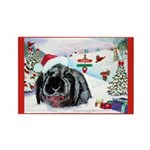Inky's Winter Rectangle Magnet