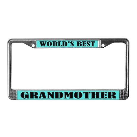World's Best Grandmother License Frame