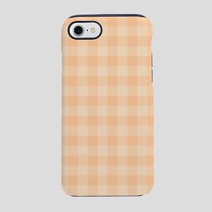 Pastel Melon Tartan Pattern iPhone 7 Tough Case