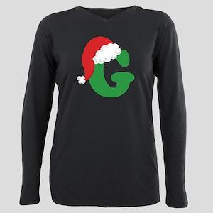 Christmas Letter G Alphabet White T-Shirt