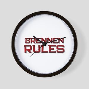 brennen rules Wall Clock