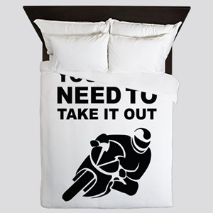 Take It Out And Play With It Queen Duvet