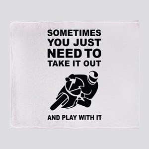 Take It Out And Play With It Throw Blanket