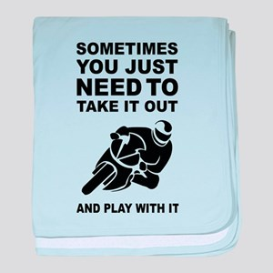 Take It Out And Play With It baby blanket