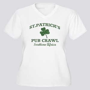 Southern Africa pub crawl Women's Plus Size V-Neck