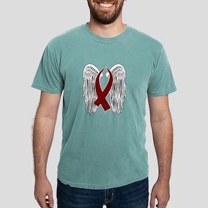 Winged Awareness Ribbon (Burgundy) T-Shirt