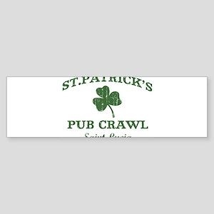 Saint Lucia pub crawl Bumper Sticker