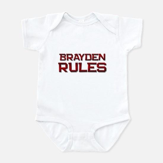 brayden rules Infant Bodysuit