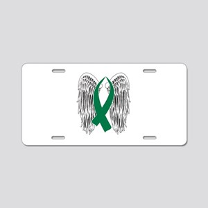 Winged Awareness Ribbon (Green) Aluminum License P
