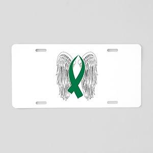 Winged Awareness Ribbon (Green) Aluminum License P