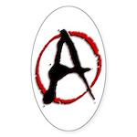 Anarchy Now Oval Sticker (50 pk)