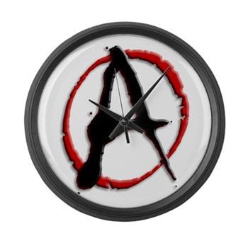 Anarchy Now Large Wall Clock