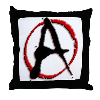 Anarchy Now Throw Pillow