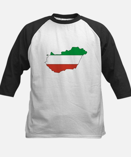 Hungary Flag Map Kids Baseball Jersey