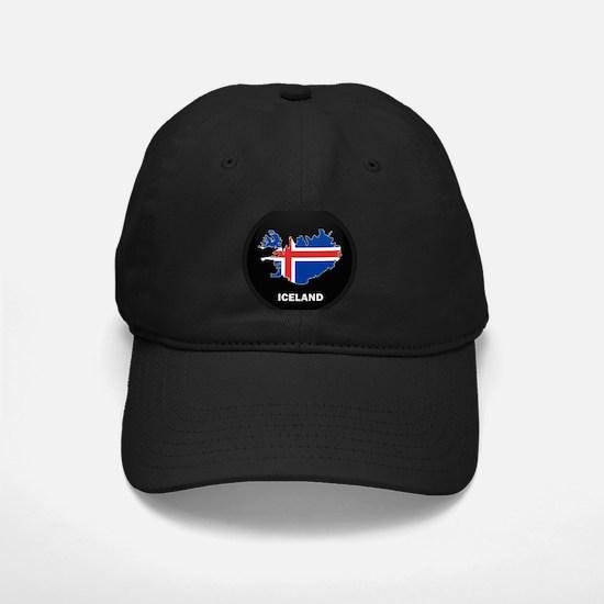 Flag Map of Iceland Baseball Hat