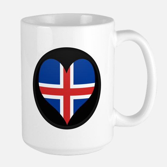 I love Iceland Flag Large Mug