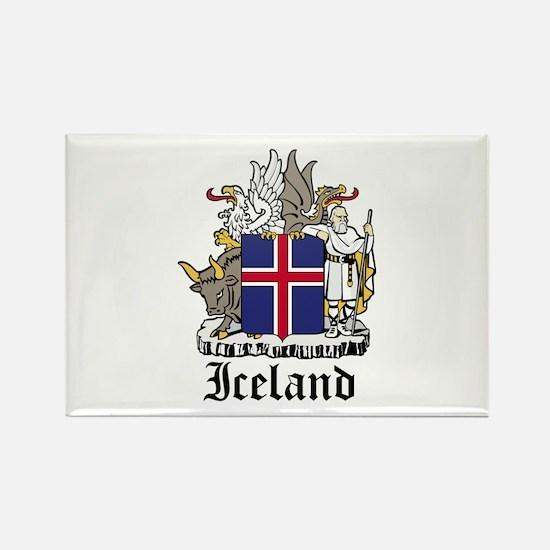 Icelander Coat of Arms Seal Rectangle Magnet