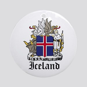 Icelander Coat of Arms Seal Ornament (Round)
