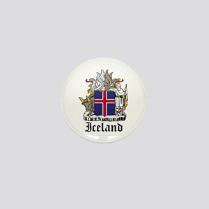Icelander Coat of Arms Seal Mini Button