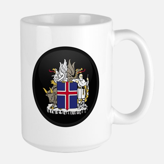 Coat of Arms of Iceland Large Mug