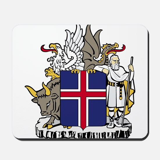 Iceland Coat of Arms Mousepad