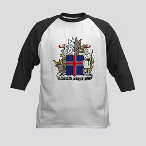 Iceland Coat of Arms Kids Baseball Jersey