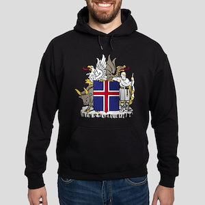 Iceland Coat of Arms Hoodie (dark)