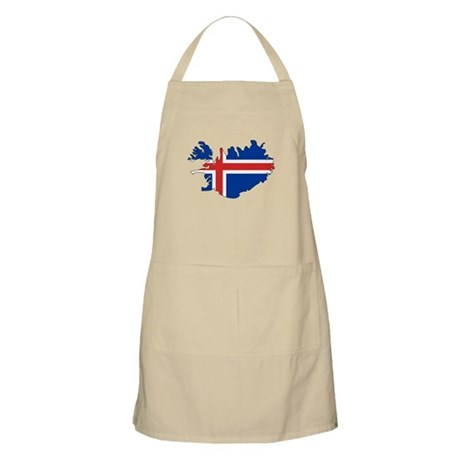 Iceland Flag Map BBQ Apron