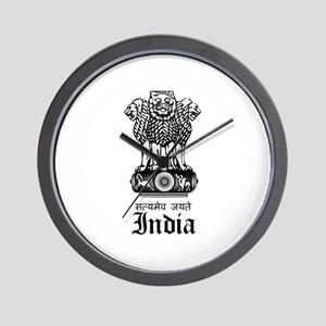 Indian Coat of Arms Seal Wall Clock