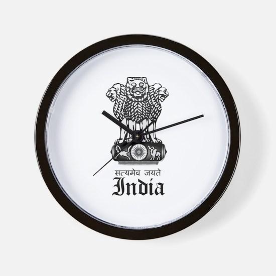 Indian Coat of Arms Seal Wall Clock