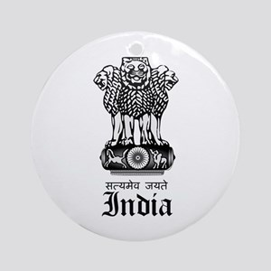 Indian Coat of Arms Seal Ornament (Round)