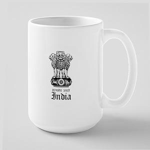 Indian Coat of Arms Seal Large Mug