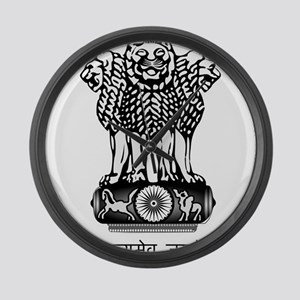 India Coat of Arms Large Wall Clock
