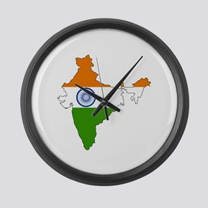 India Flag Map Large Wall Clock