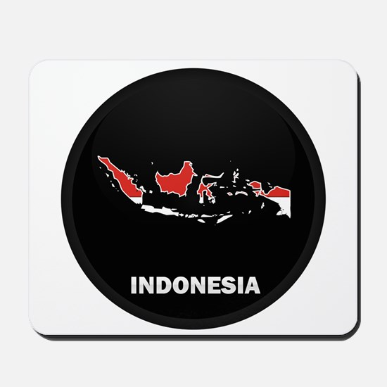 Flag Map of Indonesia Mousepad
