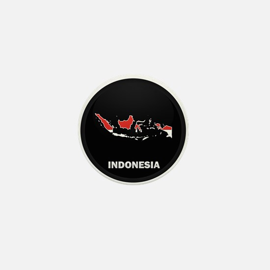 Flag Map of Indonesia Mini Button